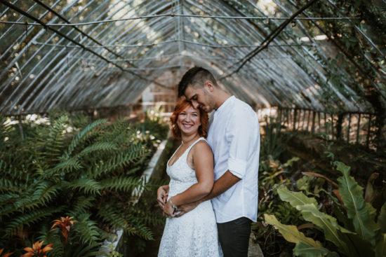 Sesión de pareja en Jardín Botánico de La  Concepción -Almudena+Jose